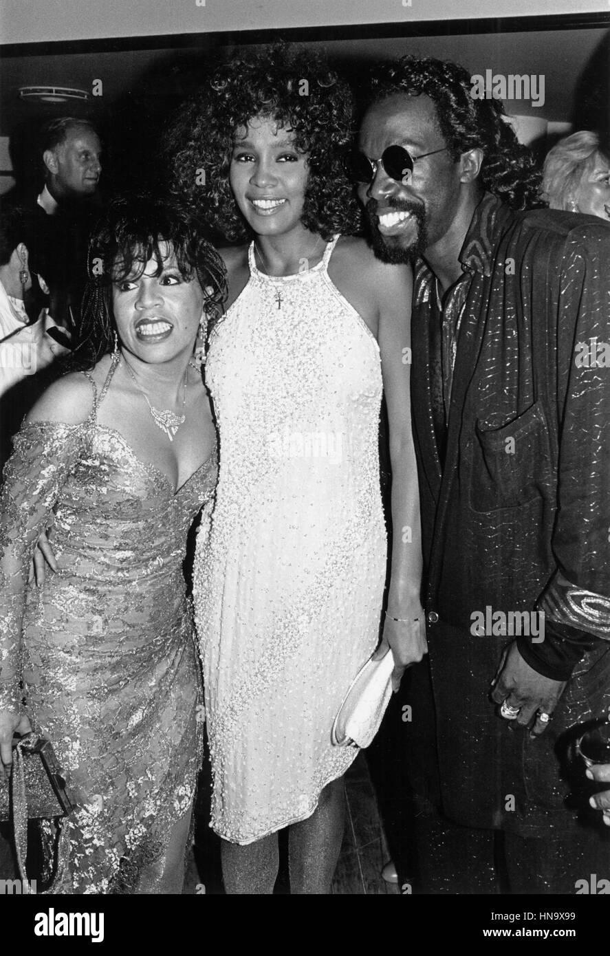 Whitney Houston, Valerie Simpson, & Nickolas Ashford toast to the opening of Ashford & Simpson's new - Stock Image