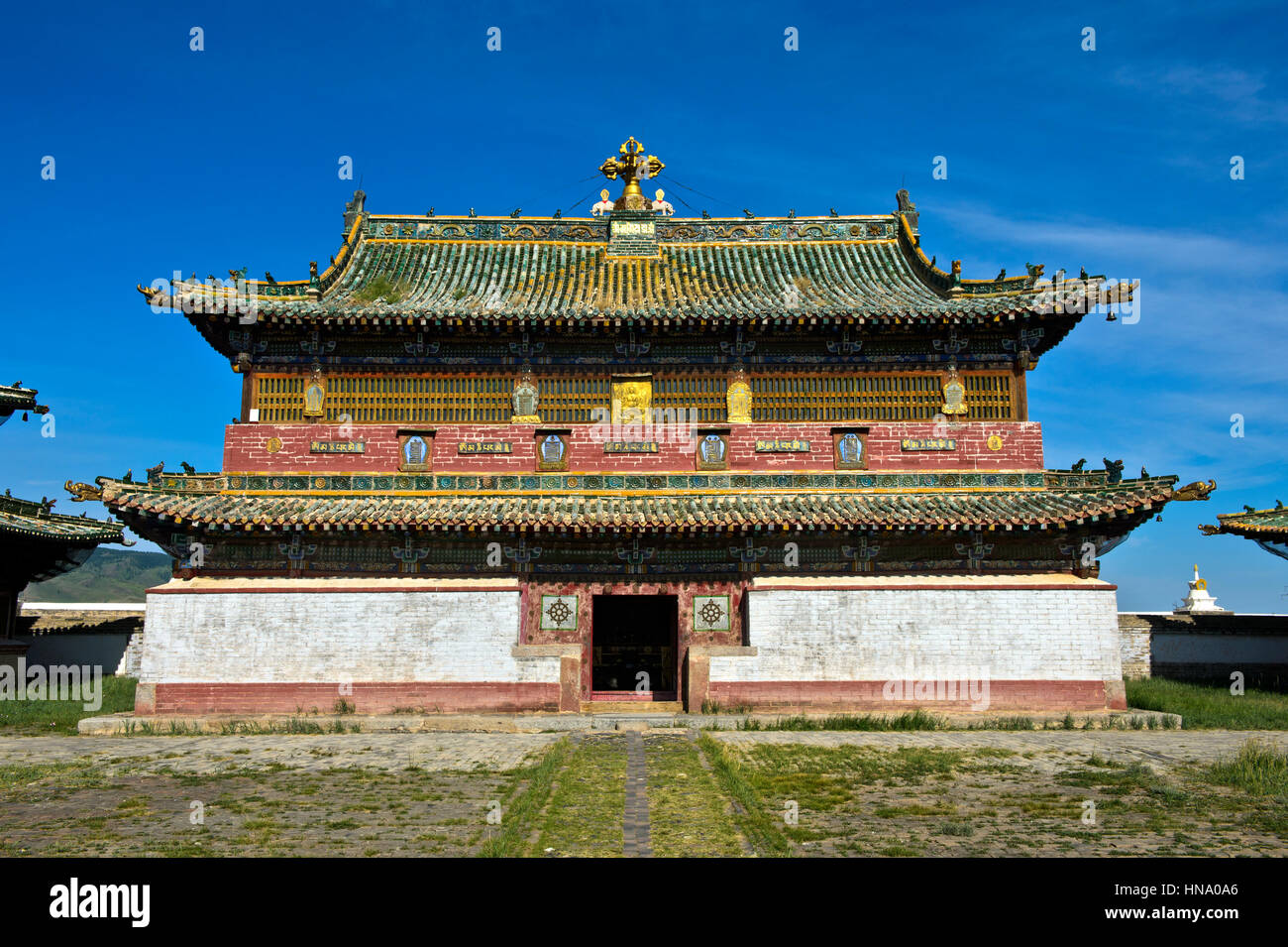 Main temple Erdene Zuu, Kharkhorin, Övörkhangai Aimag, Mongolia - Stock Image
