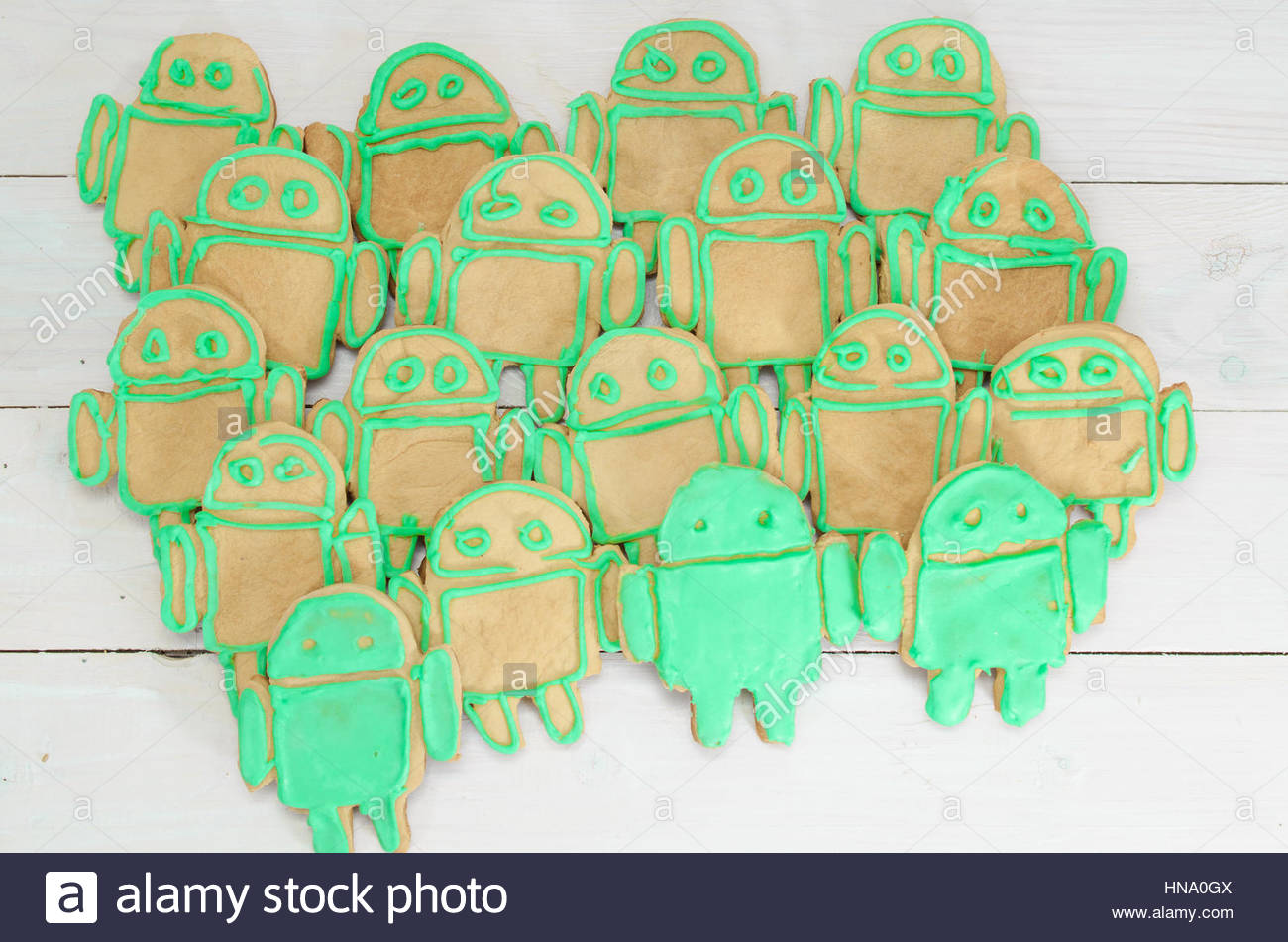 Android gingerbread on white background - Stock Image