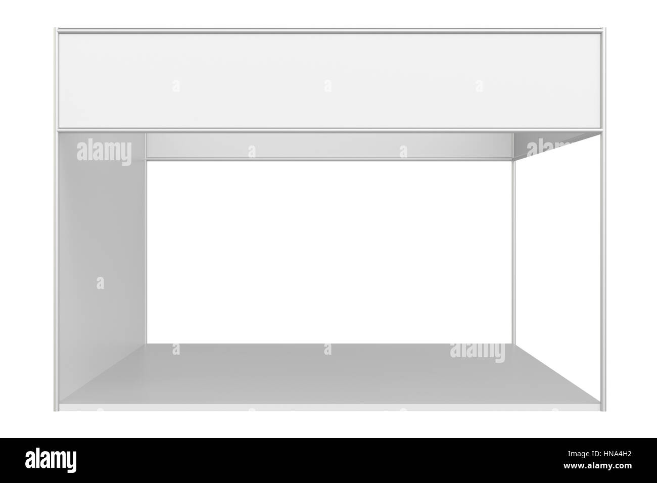 Exhibition Stand Drawing : Blank exhibition stand stock photo: 133603486 alamy