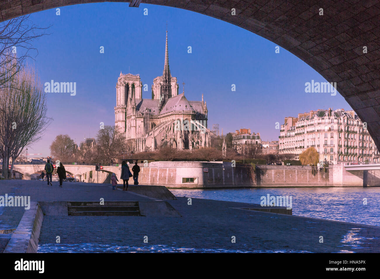 Paris in the winter morning, France - Stock Image