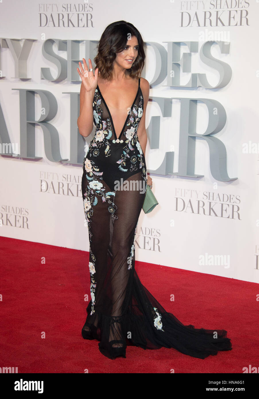 Lucy Mecklenburgh attends the premiere of Fifty Shades Darker Odeon Leicester Square, London. - Stock Image