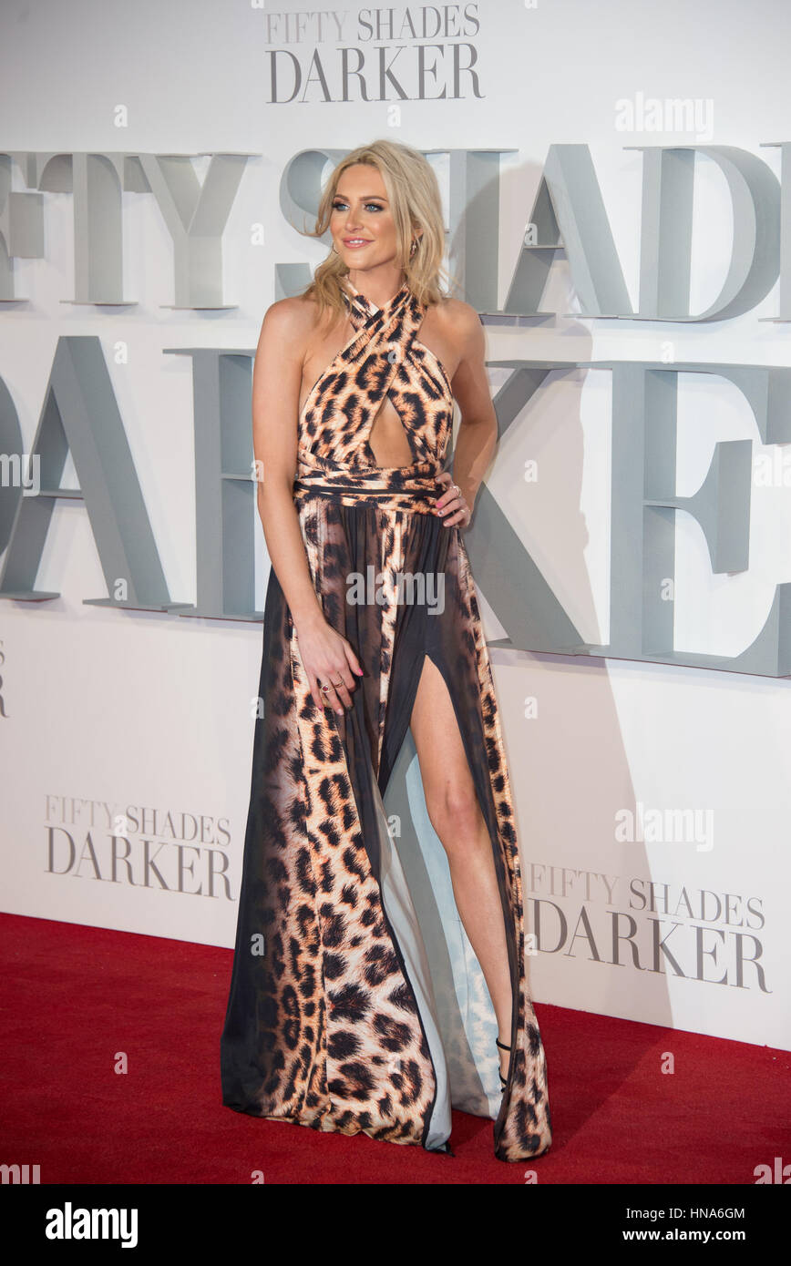 Stephanie Pratt attends the premiere of Fifty Shades Darker Odeon Leicester Square, London. - Stock Image