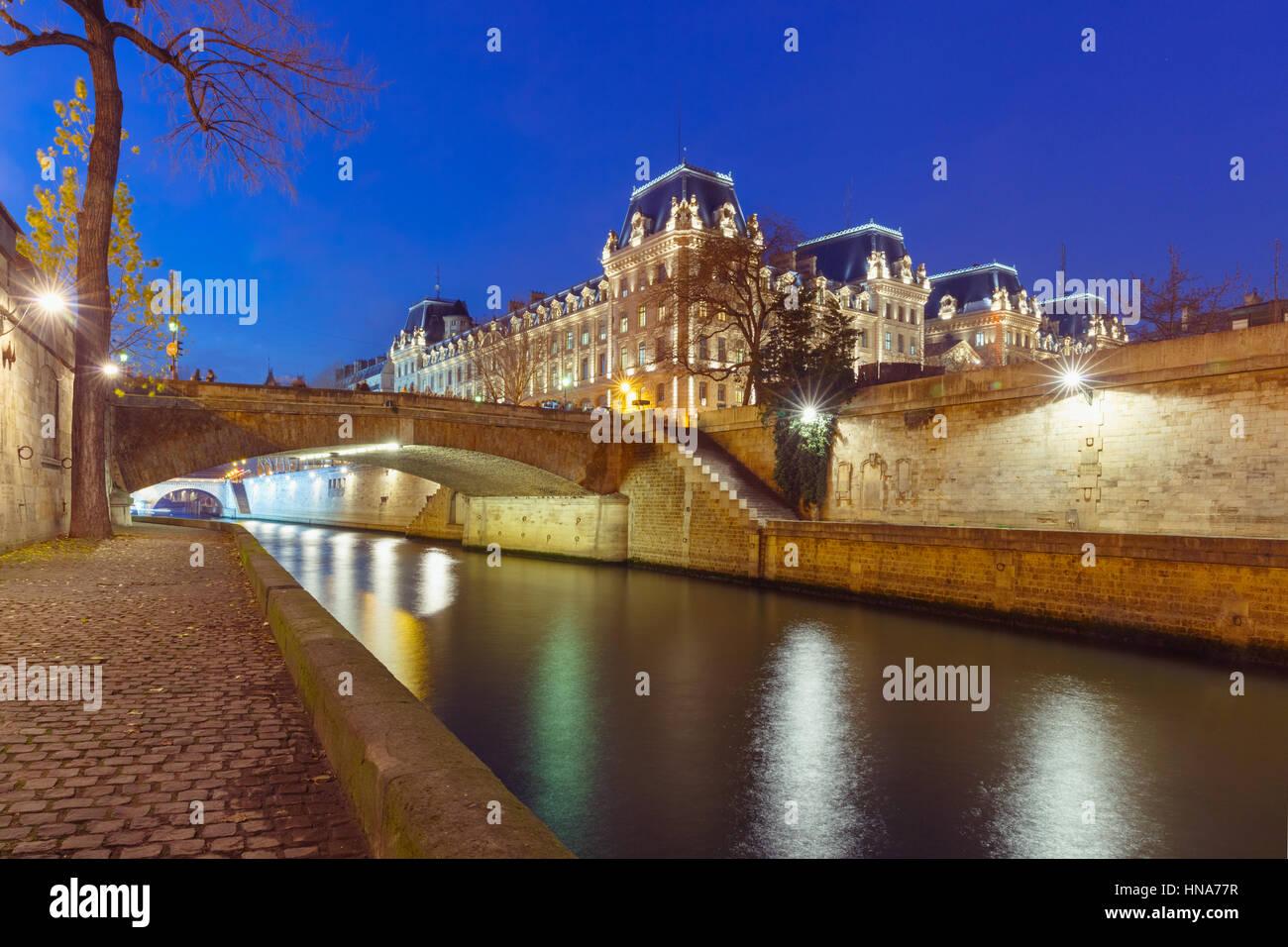Paris at night, France - Stock Image