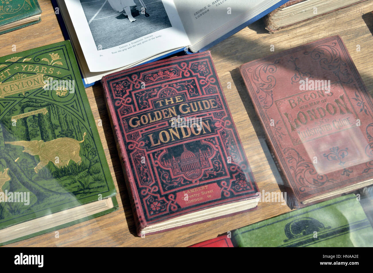 Antiquarian books about London - Stock Image