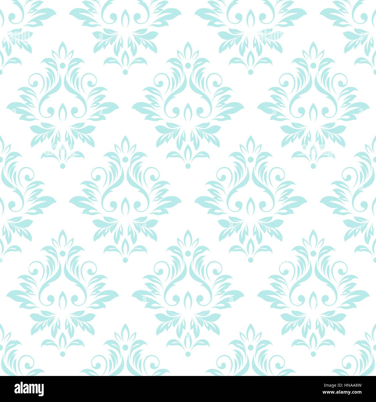 Vintage Seamless Damask Pattern Retro Wallpaper Vector