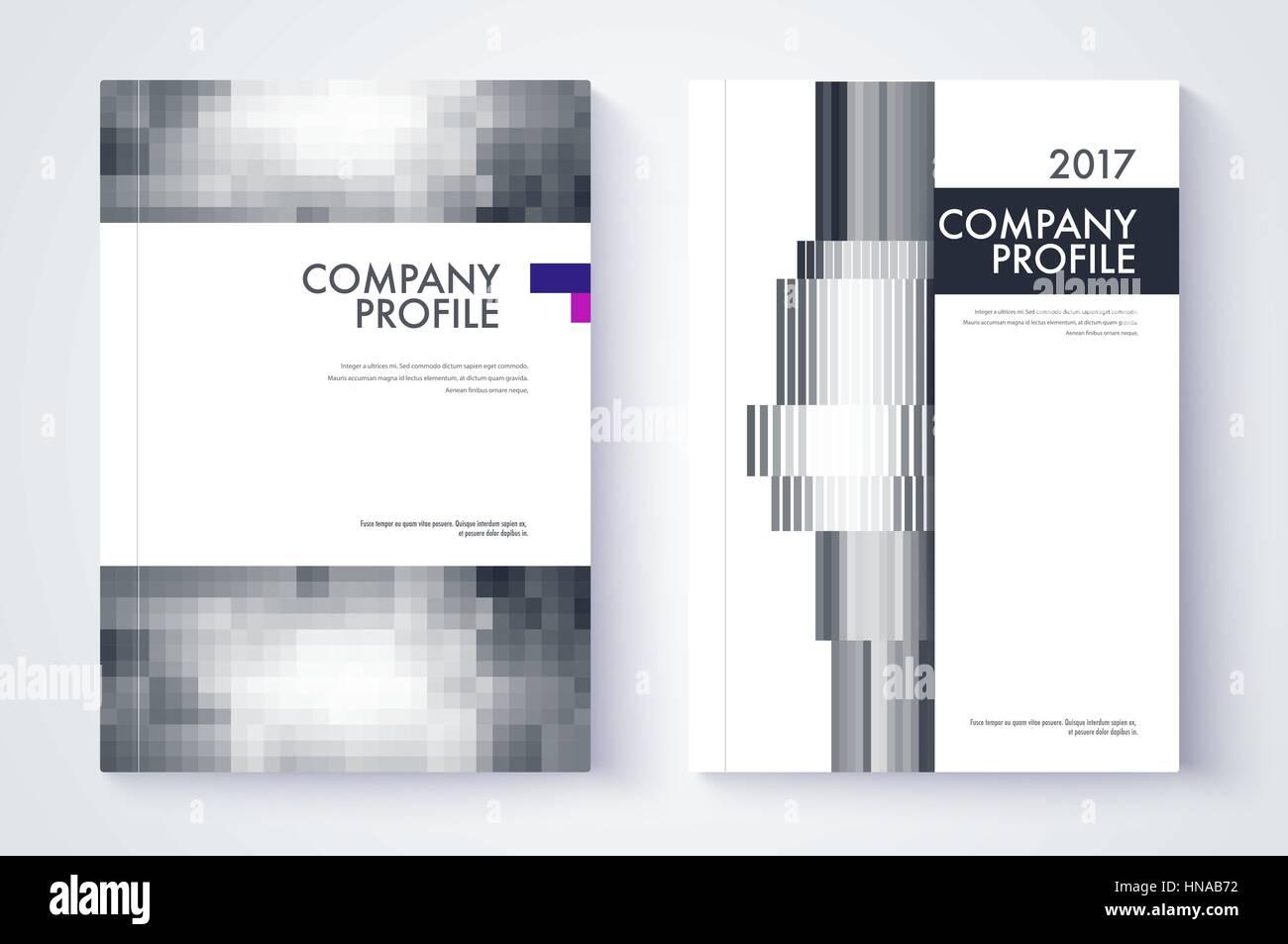 company profile template cover design vector template background