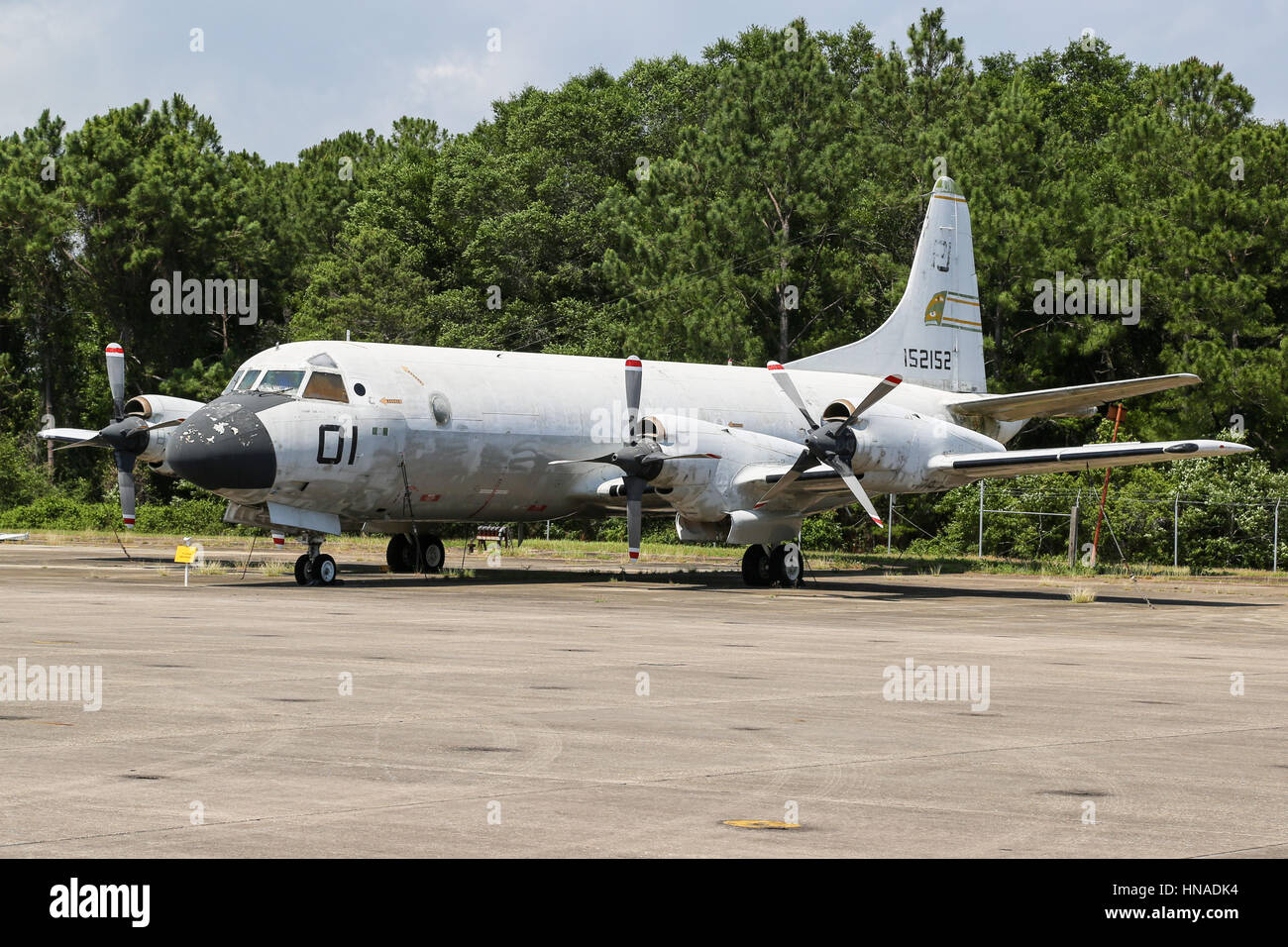 Lockheed P-3 Orion - a four-engine turboprop anti-submarine and maritime surveillance aircraft - Stock Image