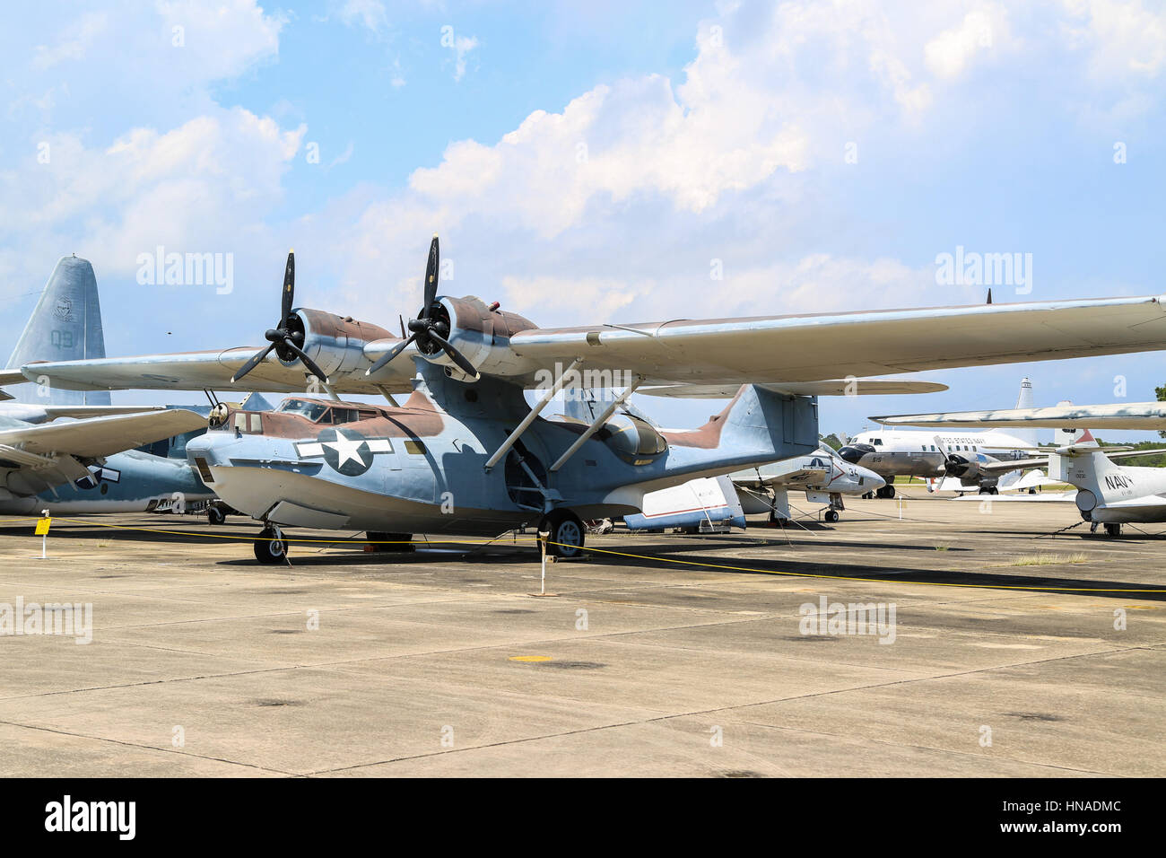 Consolidated PBY-5A Catalina Navy Sea Plane - Stock Image