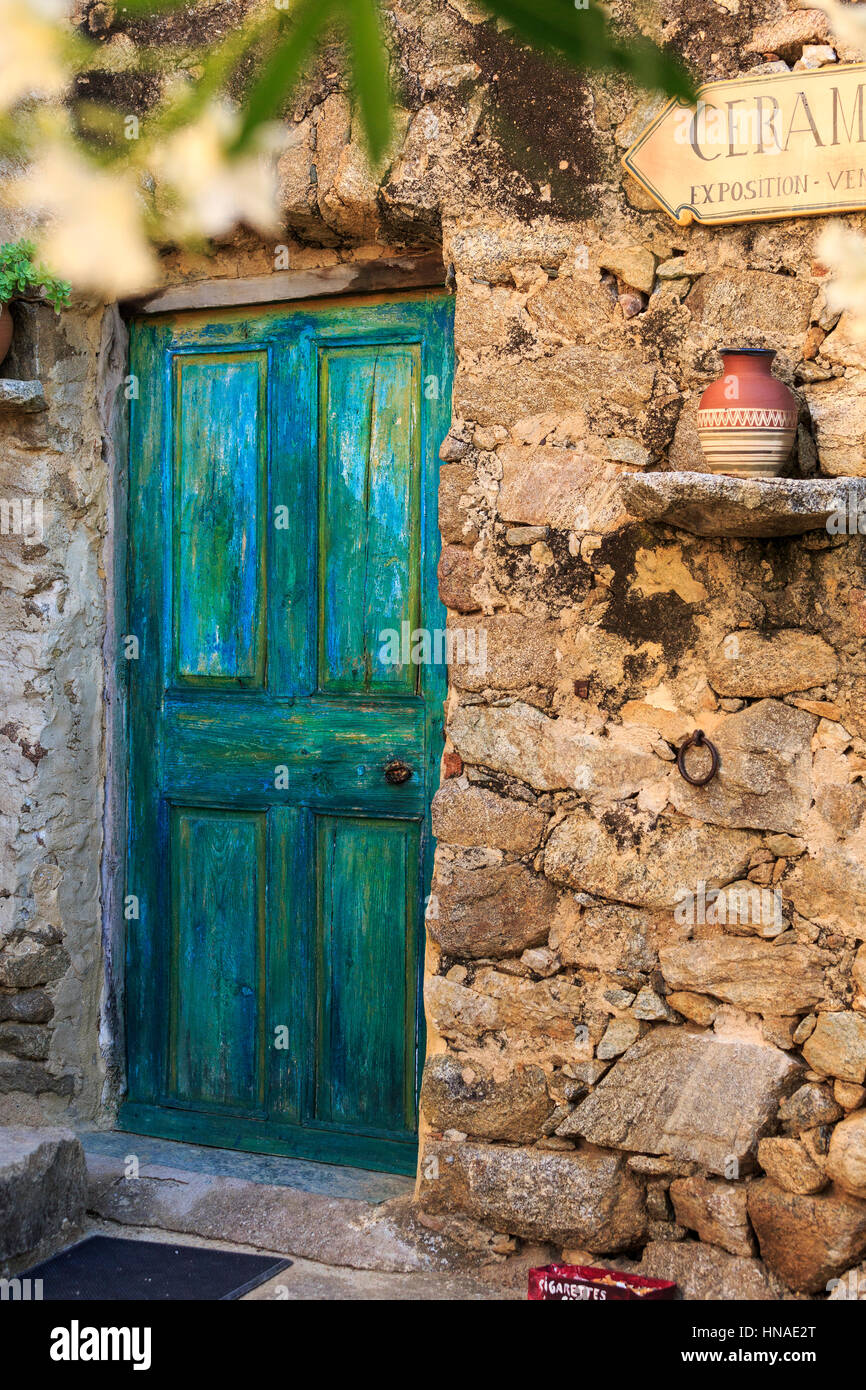 Ceramic workshop, Pigna, The Balagne,Corsica, France - Stock Image