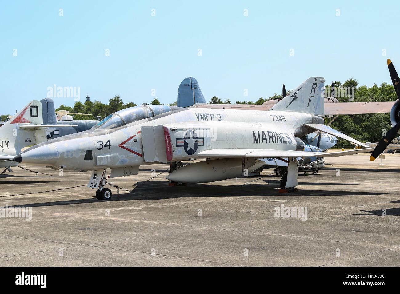 McDonnell Douglas F-4 Phantom II - Marine Corps RF-4B - Stock Image