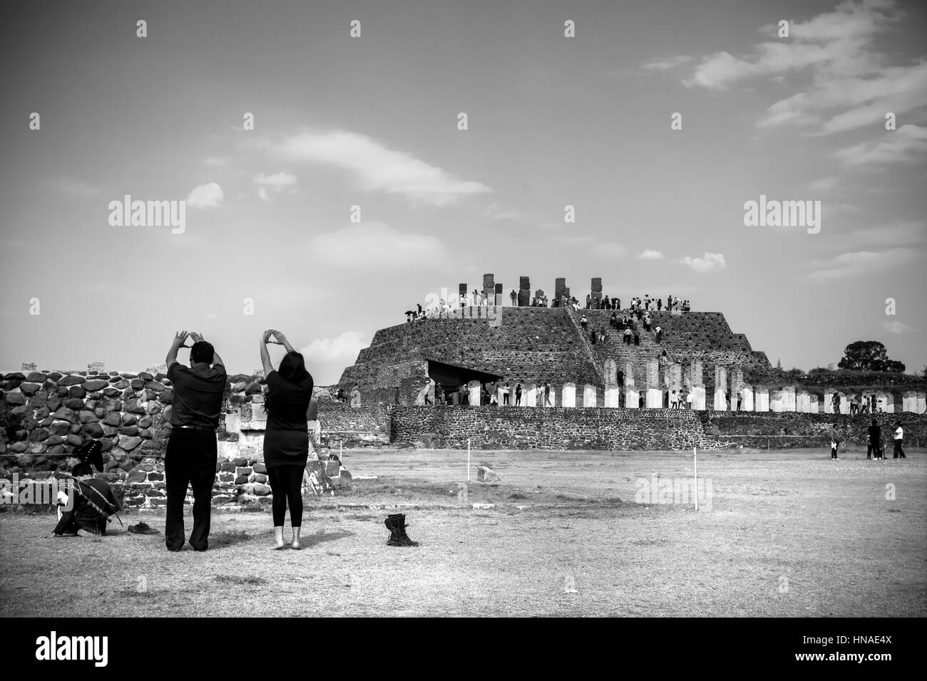 Tula, site in Mexico - Stock Image
