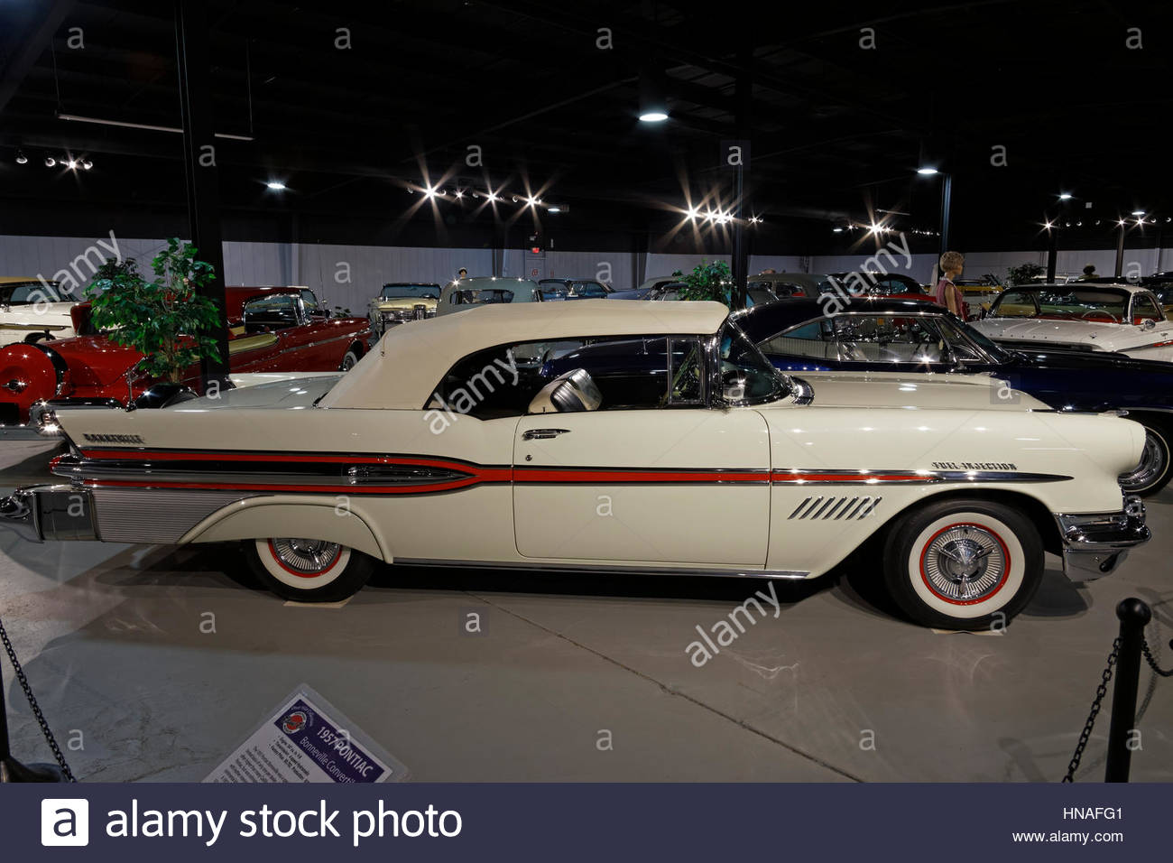 Vintage cars on display at the Northeast Classic Car Museum, Norwich, New York, USA - Stock Image