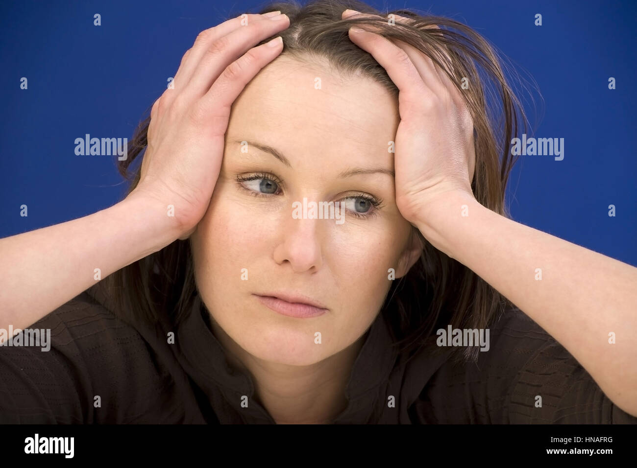 Frustrierte, junge Frau - frustrated, young woman Stock Photo