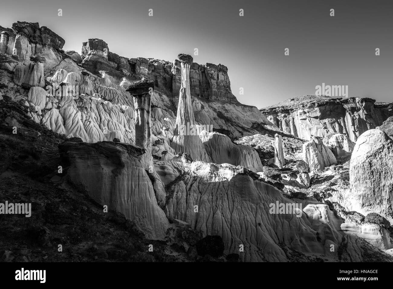 Wahweap Hoodoos Grand Staircase Escalante National Monument Stock Photo