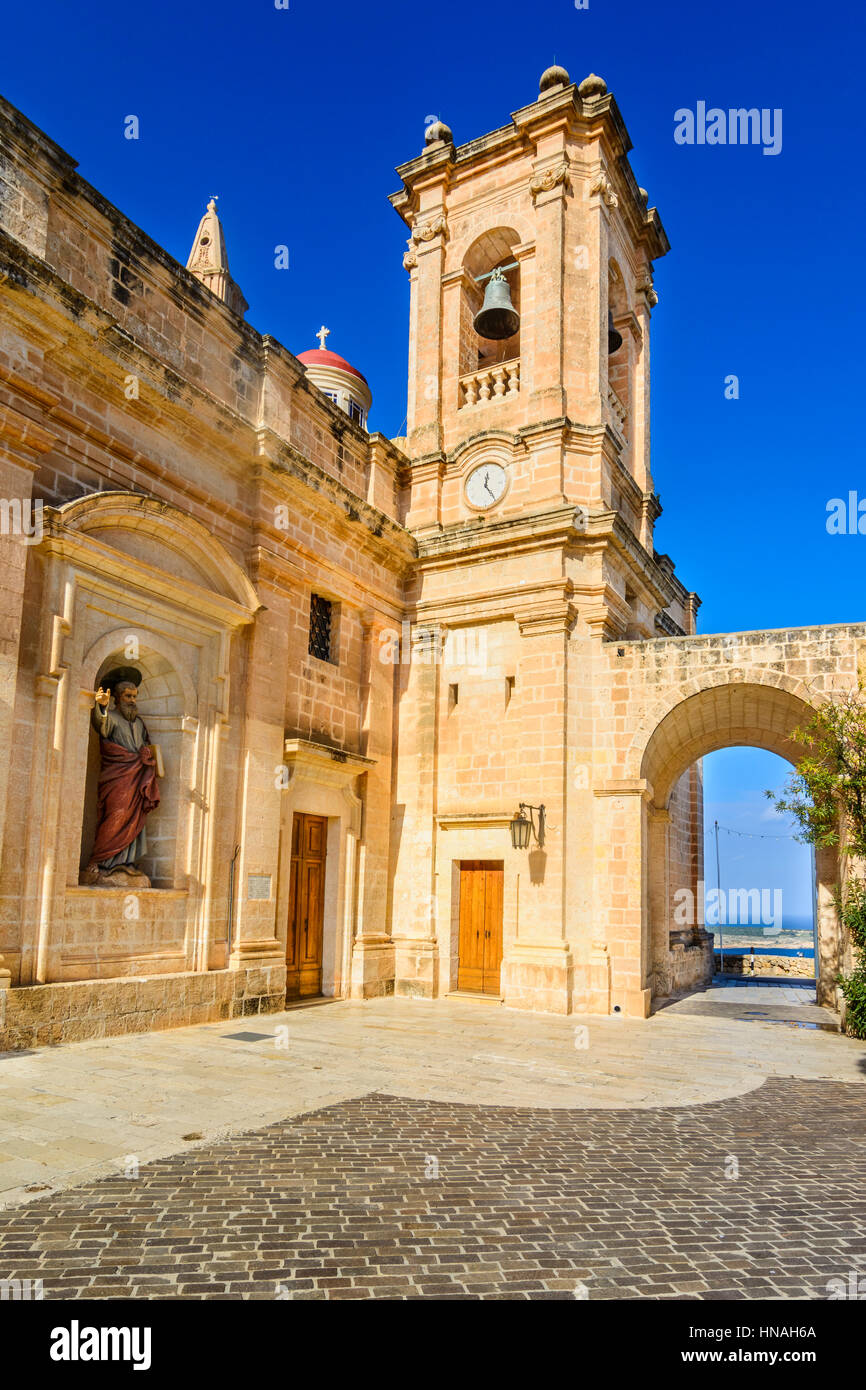 The Sanctuary of Our Lady of Mellieha, Malta - Stock Image