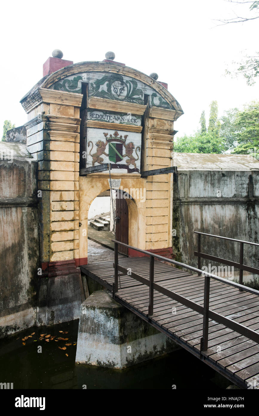 Star Fort, Dutch fort from 1765, Matara, Sri Lanka - Stock Image