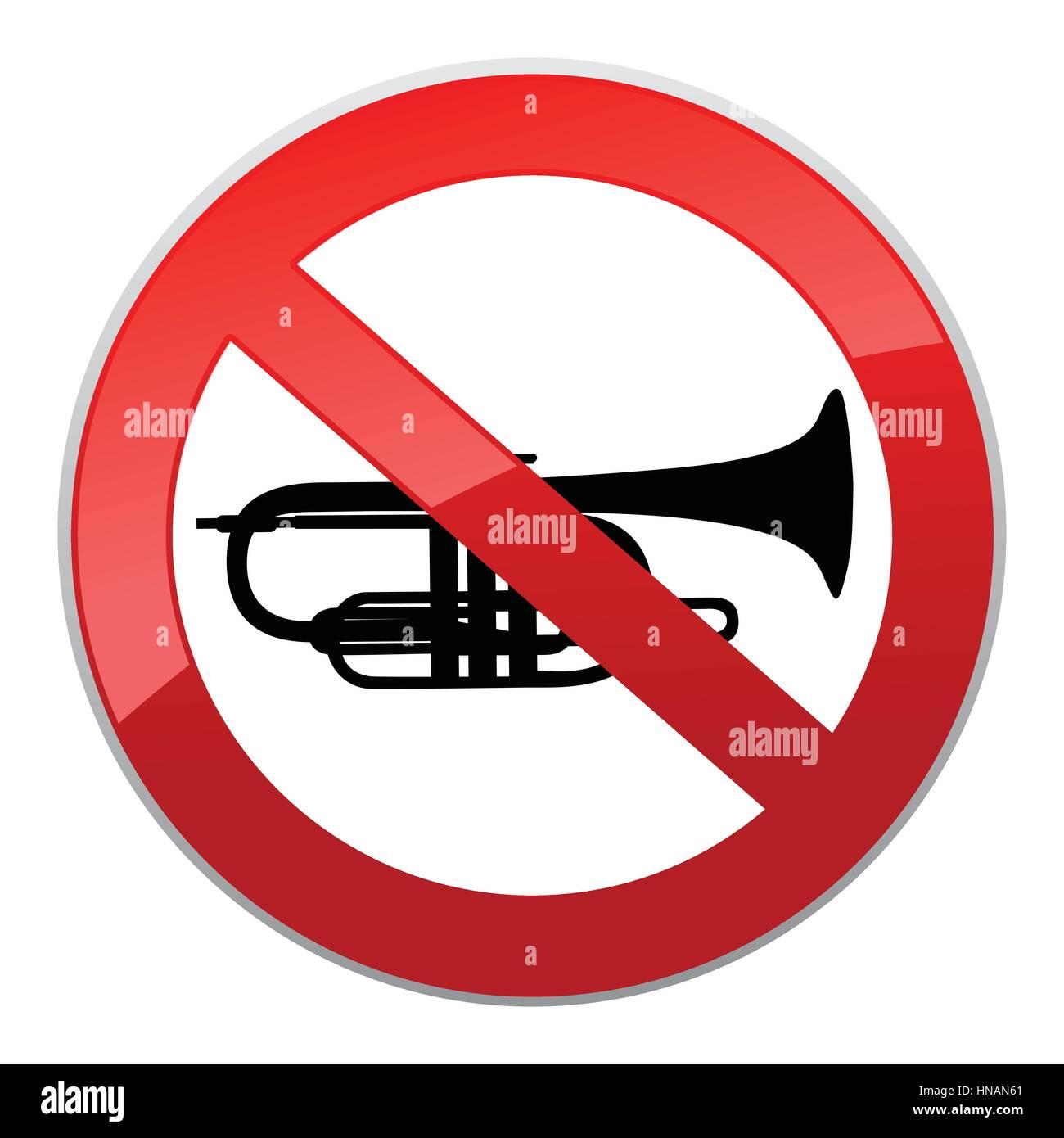 No sound sign. Vector Keep Quiet symbol. - Stock Image
