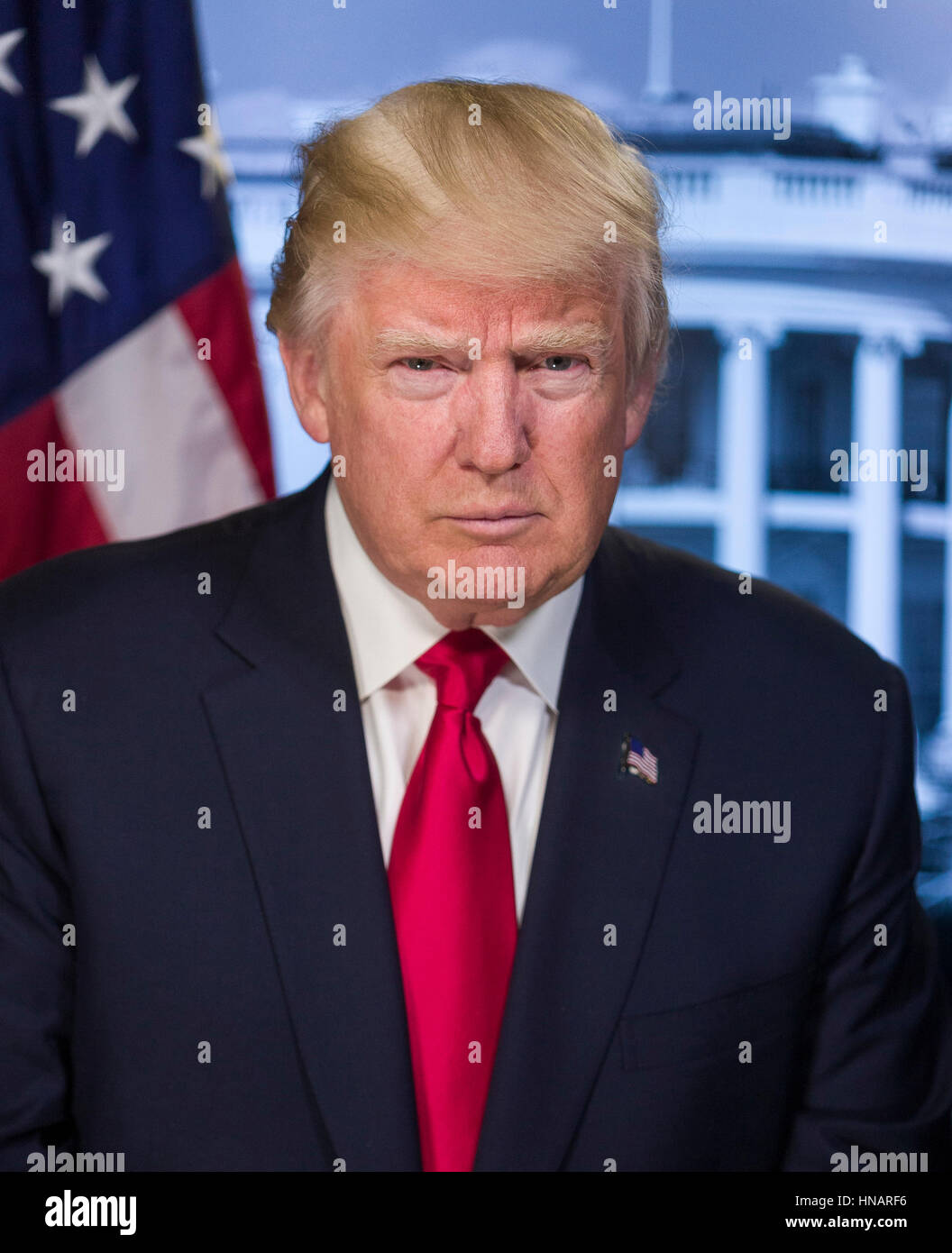 President of the United States Donald Trump - Stock Image