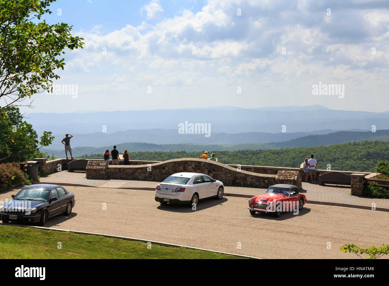 Dan Ingalls Overlook, Bath County, Virginia near Homestead Resort. - Stock Image