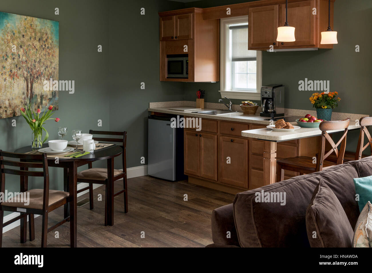 Kitchenette and dining table at a Maryland Inn, Inn on ...