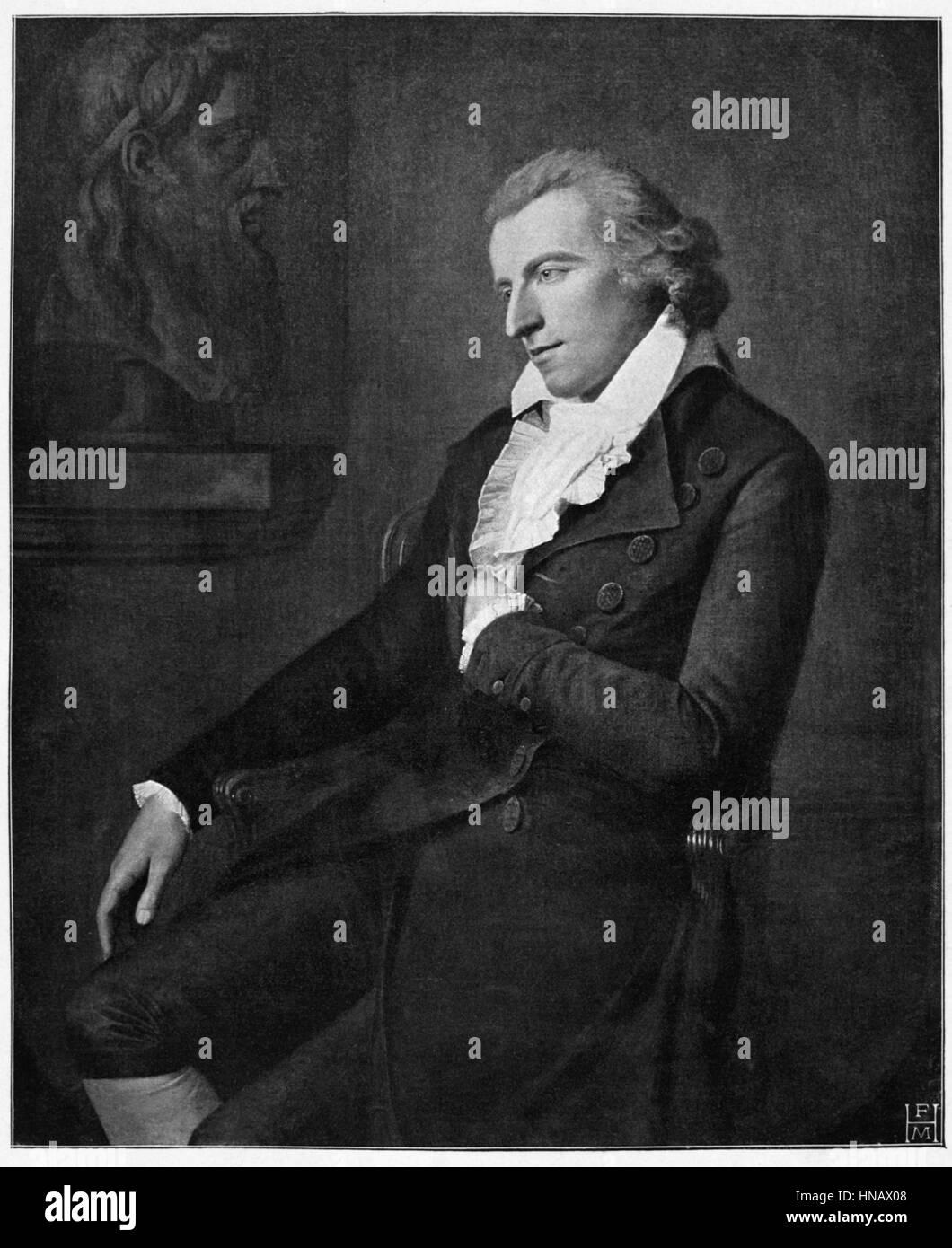 FRIEDRICH SCHILLER WRITER (1800) - Stock Image
