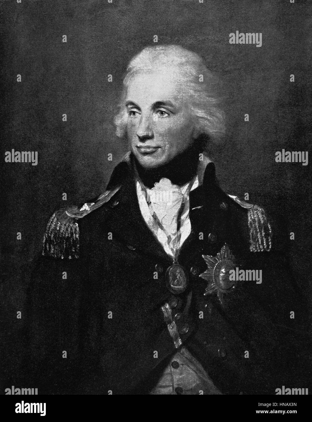 HORATIO VISCOUNT NELSON FLAG OFFICER & ADMIRAL (1800) - Stock Image