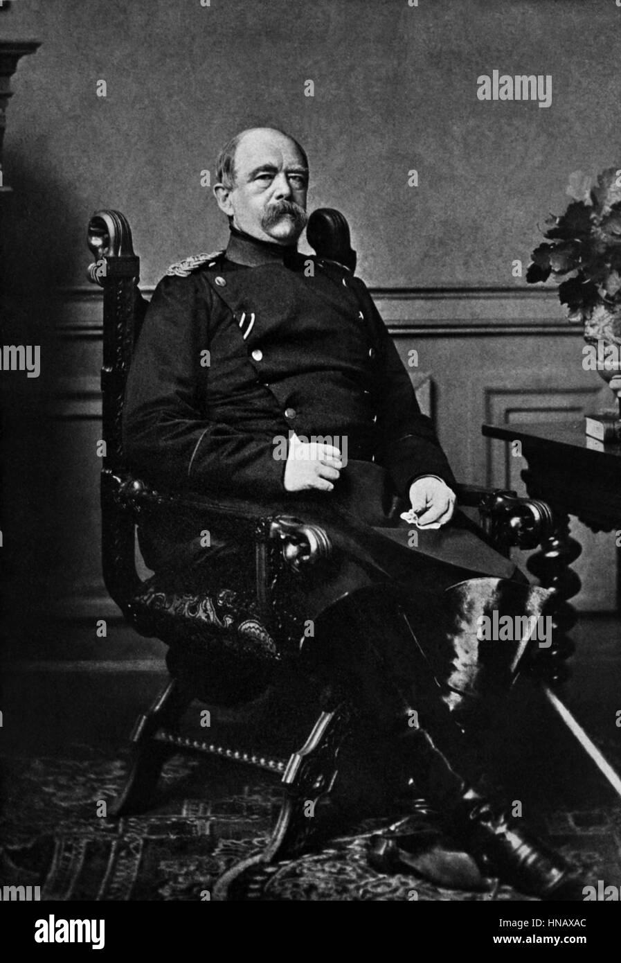 OTTO VON BISMARCK STATESMAN (1885) - Stock Image
