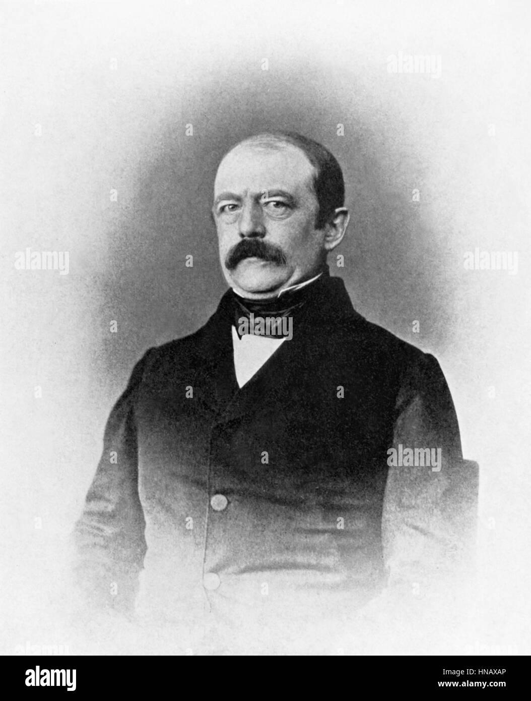 OTTO VON BISMARCK STATESMAN (1850) - Stock Image