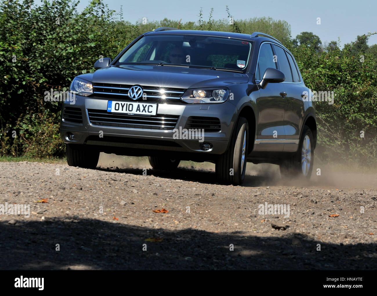 2010 VW Volkswagen Toureg SUV - Stock Image