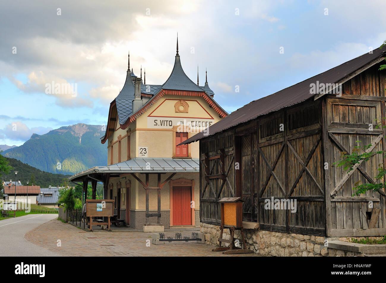 San Vito, Mountains of Cortina d'Ampezzo, Dolomiti Alps, Italy - Stock Image