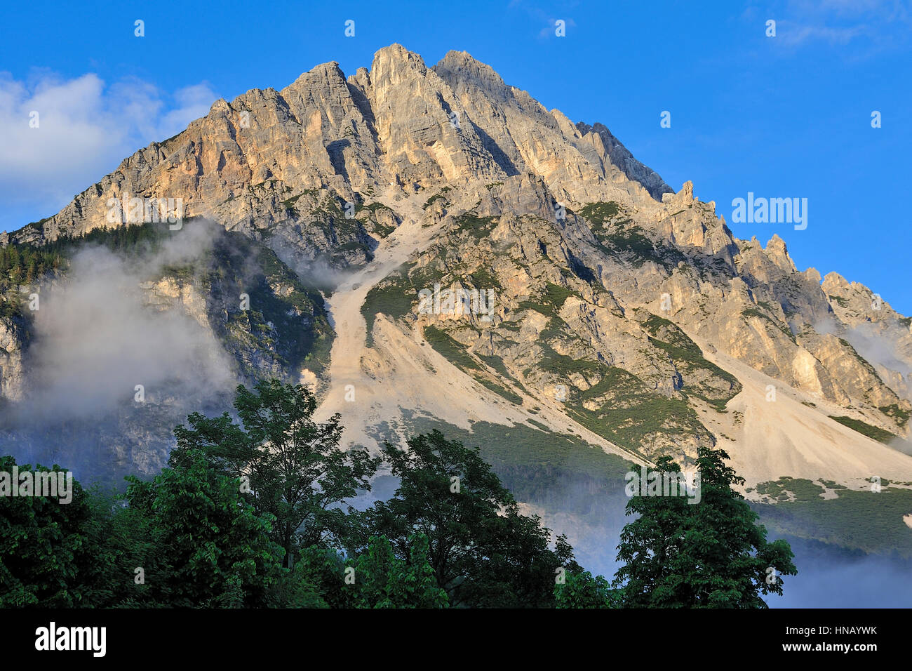 Mountains of Cortina d'Ampezzo, Dolomiti Alps, Italy - Stock Image