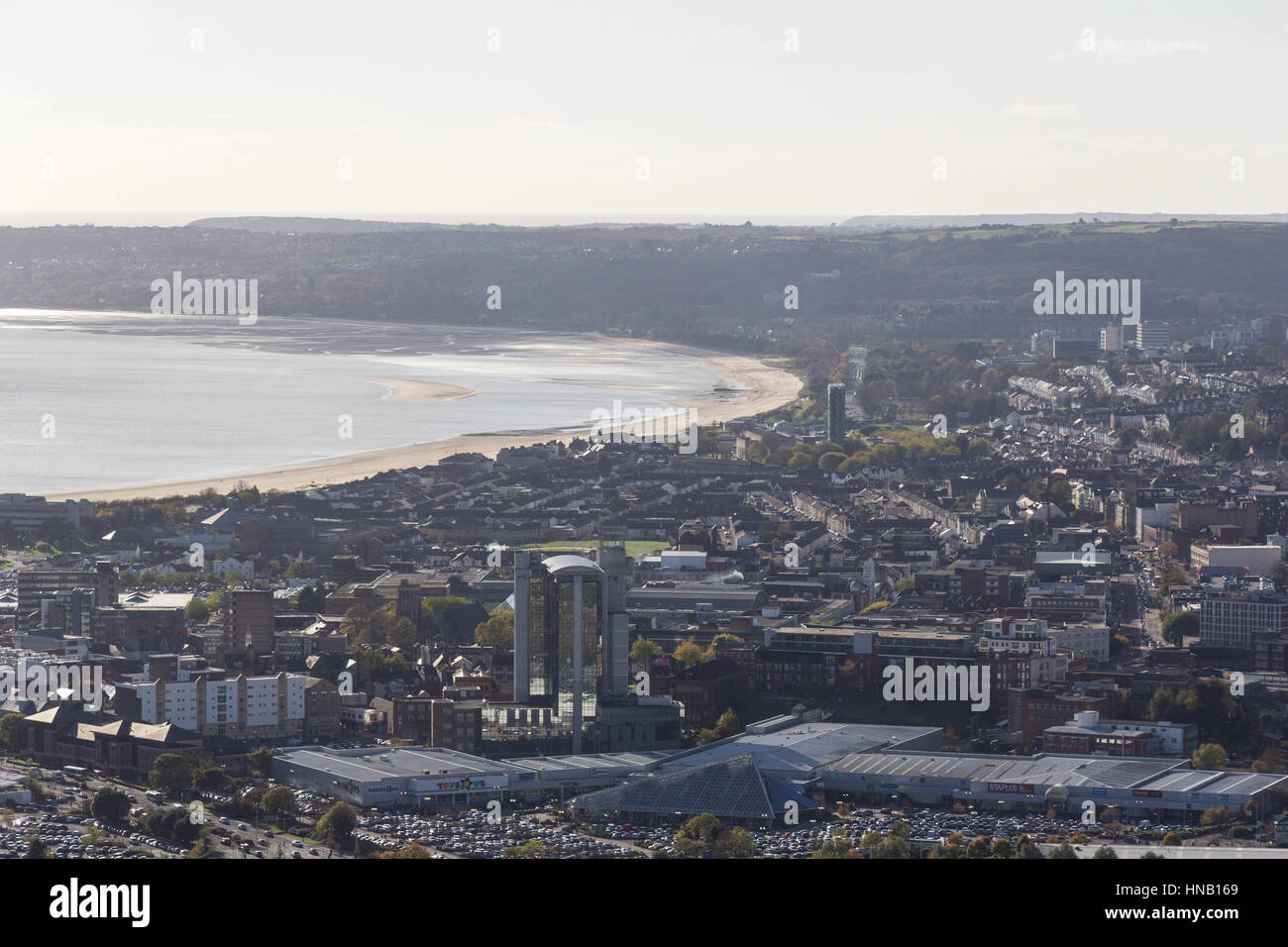 Swansea Bay view. - Stock Image