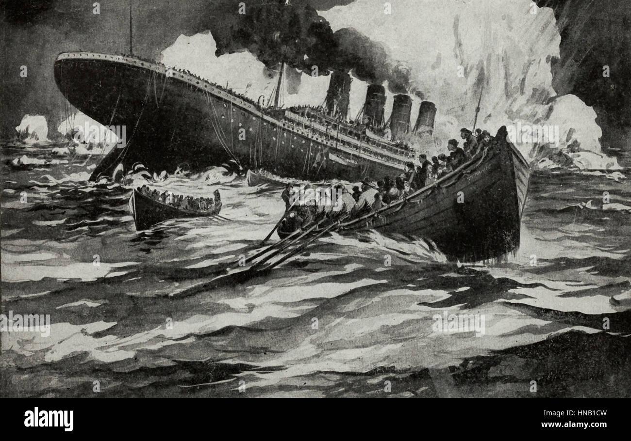 The Destruction of the Titanic - Stock Image