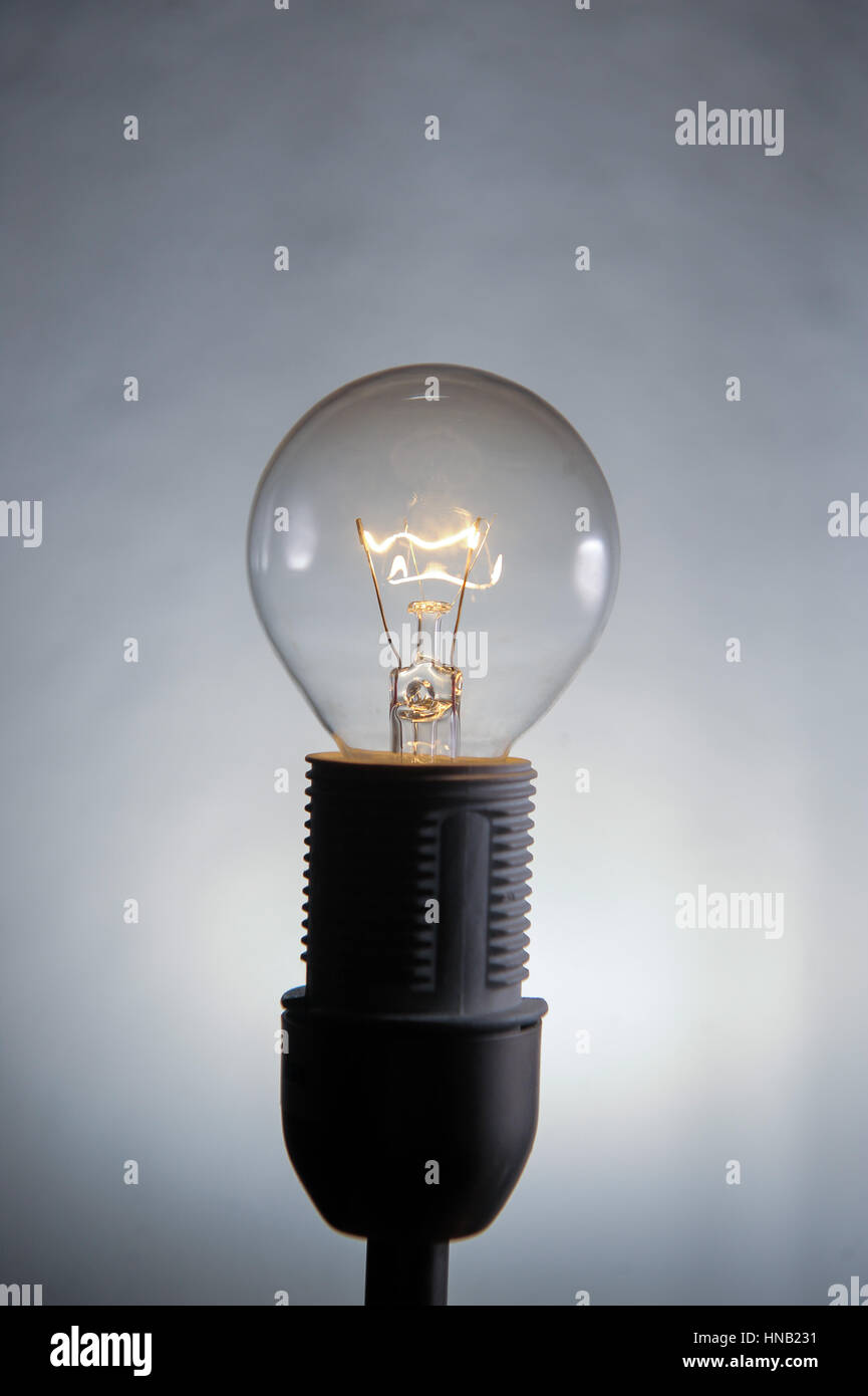 Luxembourg 14.10.2008. Illustration of a light bulb, electricity - Stock Image
