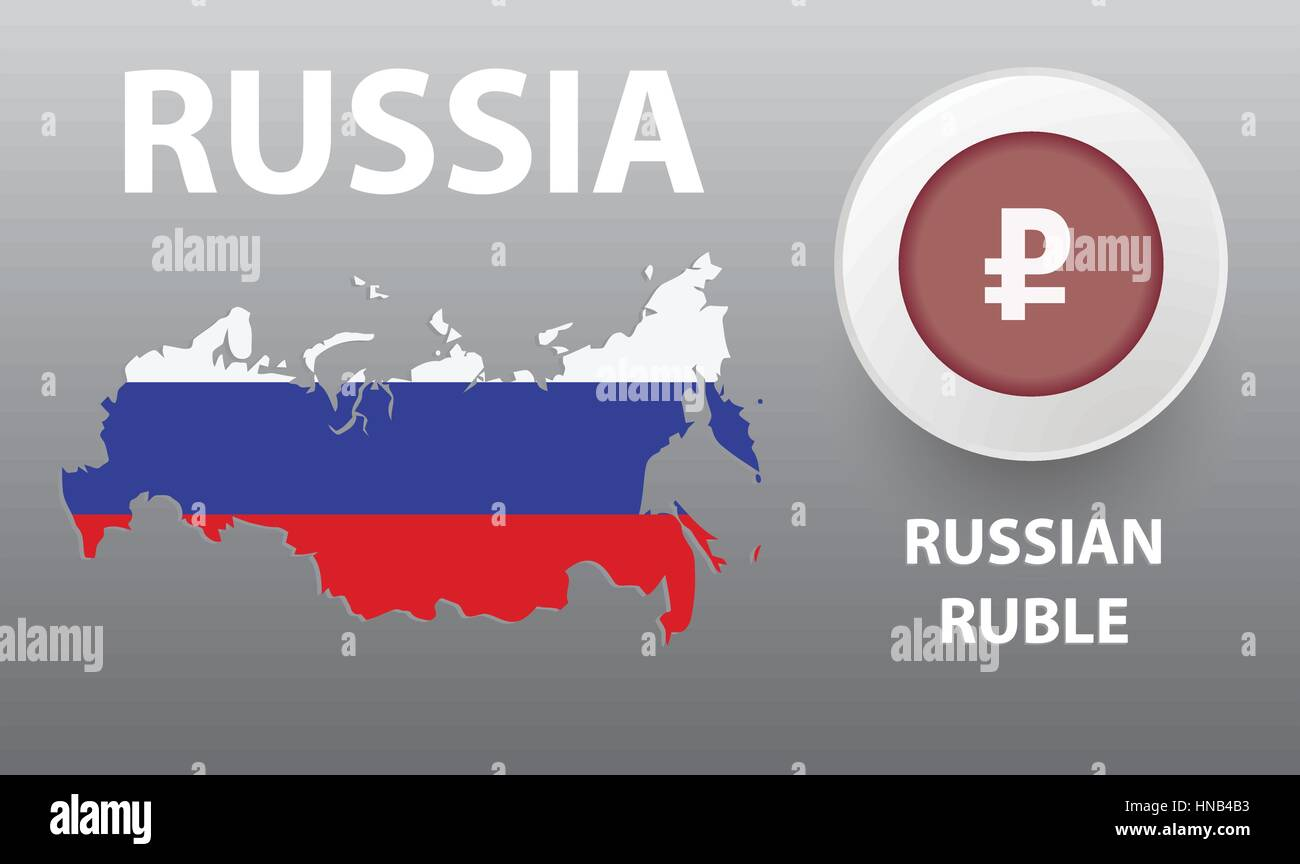 Vector Illustration Of Map Of The Russia The Button With The Stock