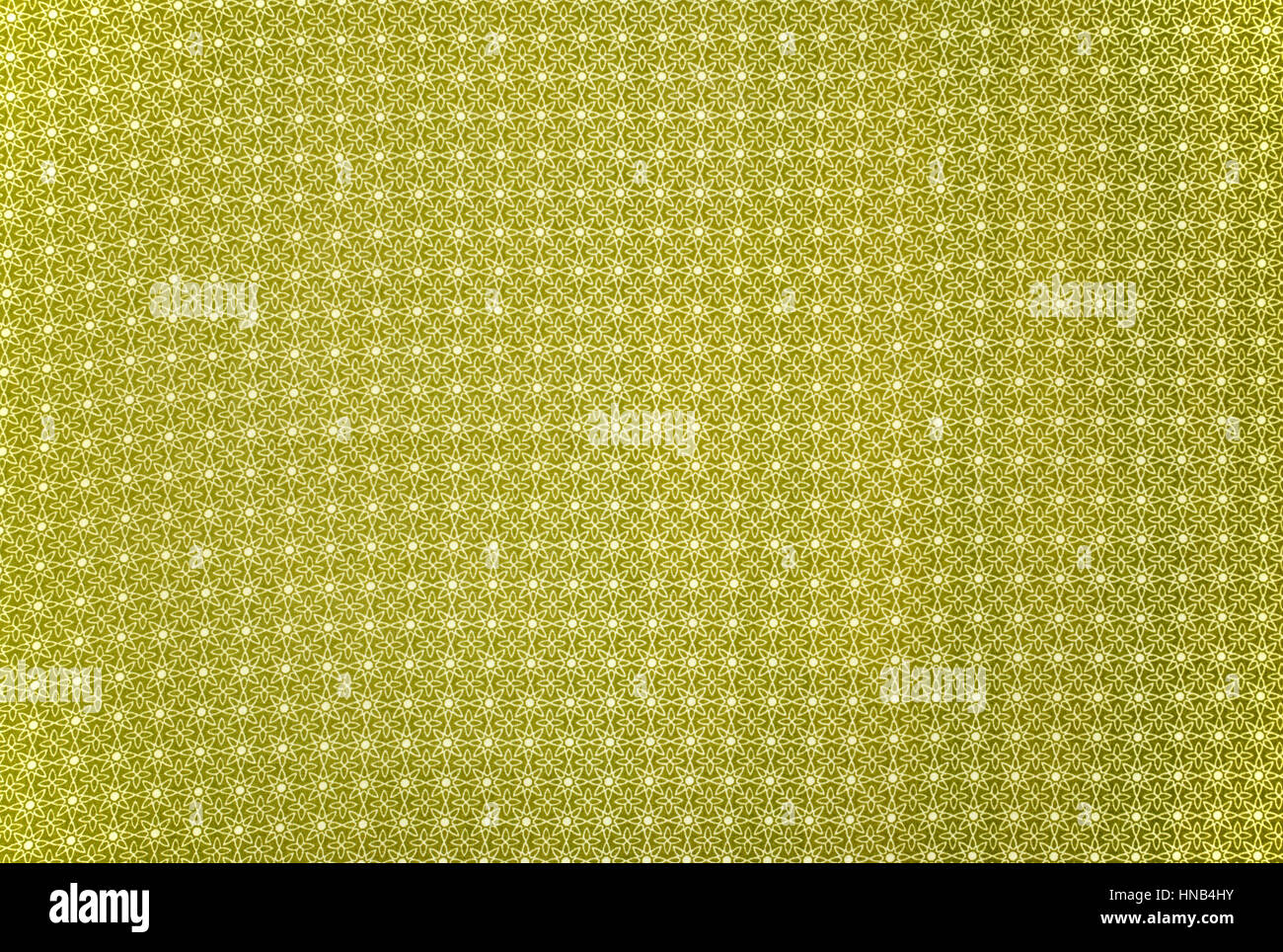 Olive Green Repeated Linear Floral Pattern Cloth Background Patterned - Stock Image