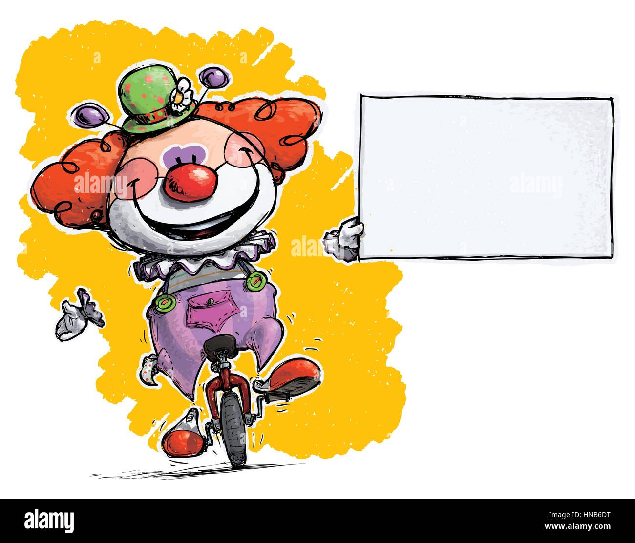 Clown holding business card stock photos clown holding business cartoonartistic illustration of a clown on unicle holding an empty business card stock colourmoves