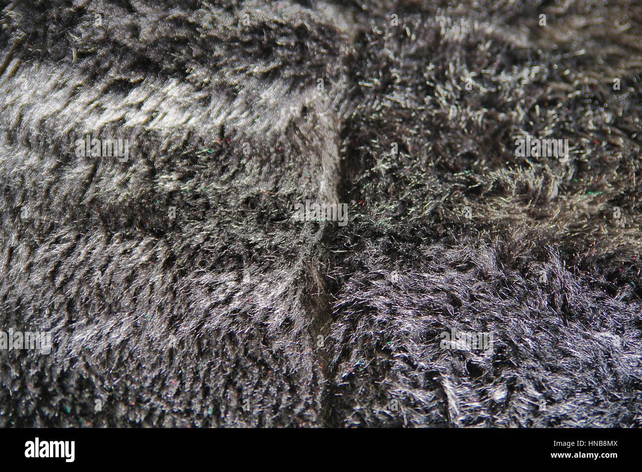 detail of fake fur garment - Stock Image