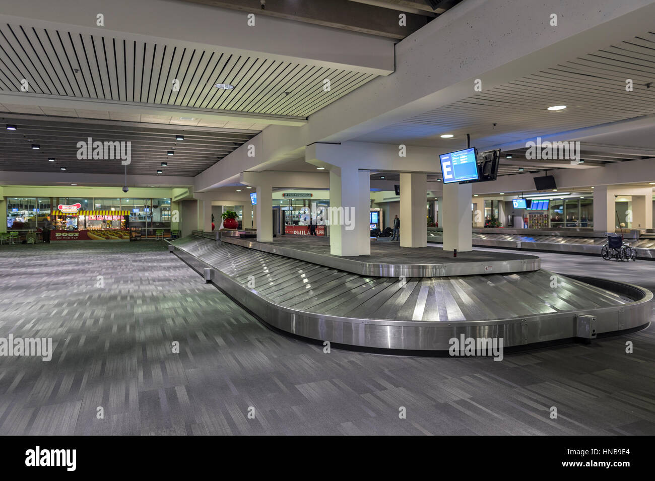 Empty Airport Luggage Area - Stock Image