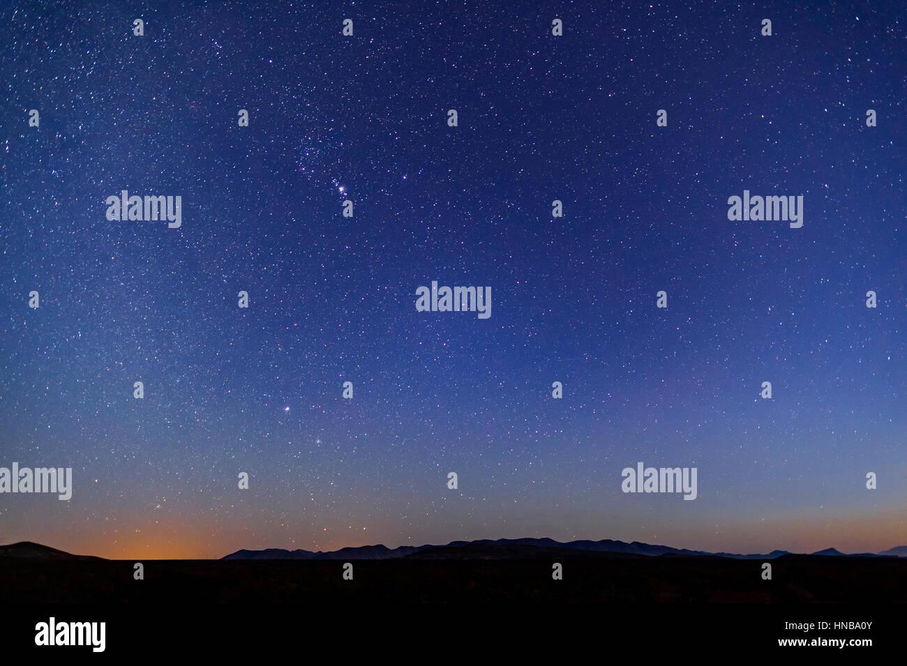 Stars In Night Sky, Arizona USA Desert - Stock Image