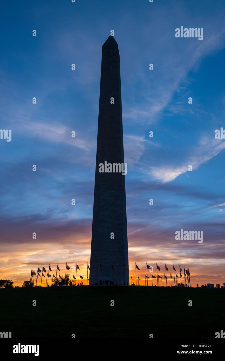 Washington Monument, Washington DC USA - Stock Image