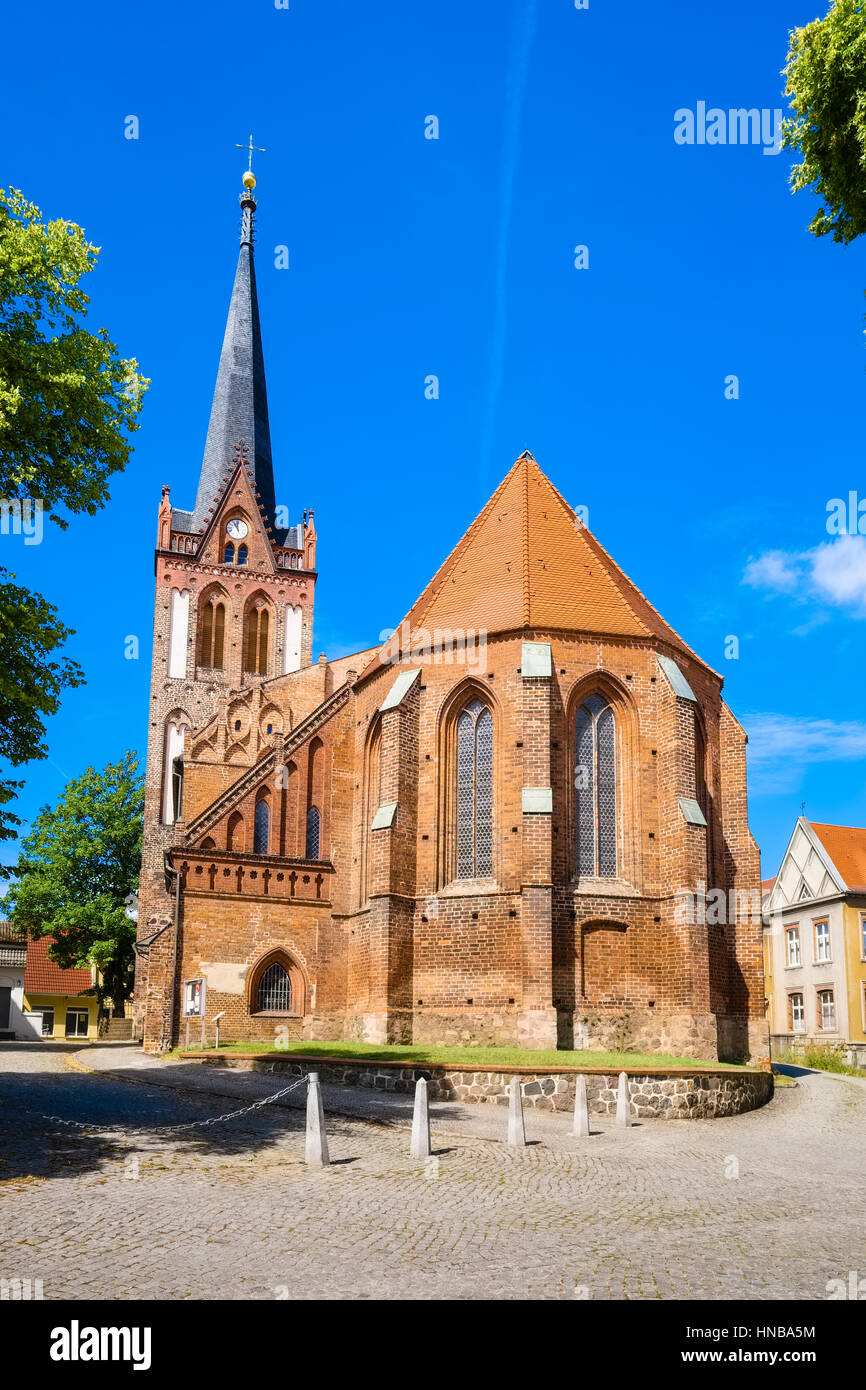 Parish Church St. Nikolai, Bad Freienwalde, Brandenburg, Germany - Stock Image