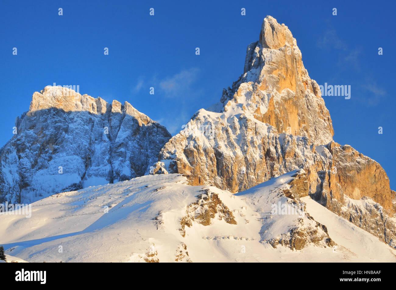 San Martino Passo Rolle Dolomiti Alps Italy - Stock Image