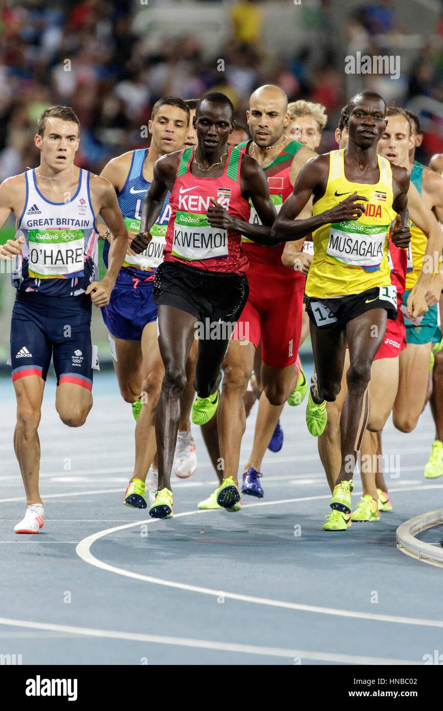 Rio de Janeiro, Brazil. 18 August 2016.  Athletics, Matthew Centrowitz (USA)  competing in the men's 1500m semi - Stock Image