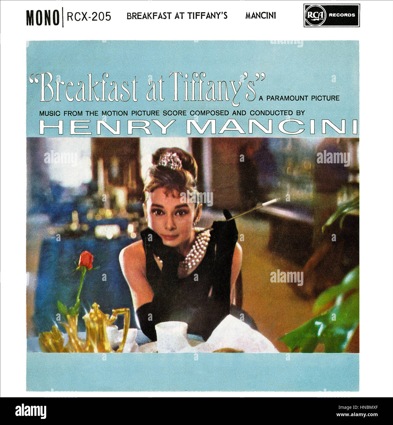 Front cover of a U.K. Breakfast At Tiffany's 7' E.P. by Henry Mancini issued in October 1961, featuring - Stock Image