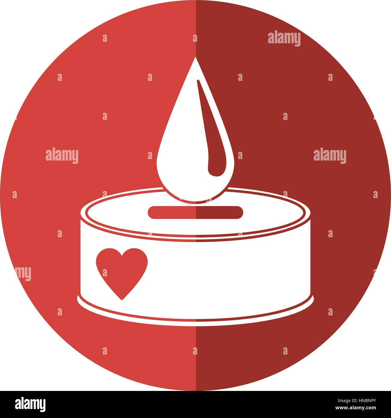 campaing donation blood drop shadow - Stock Image