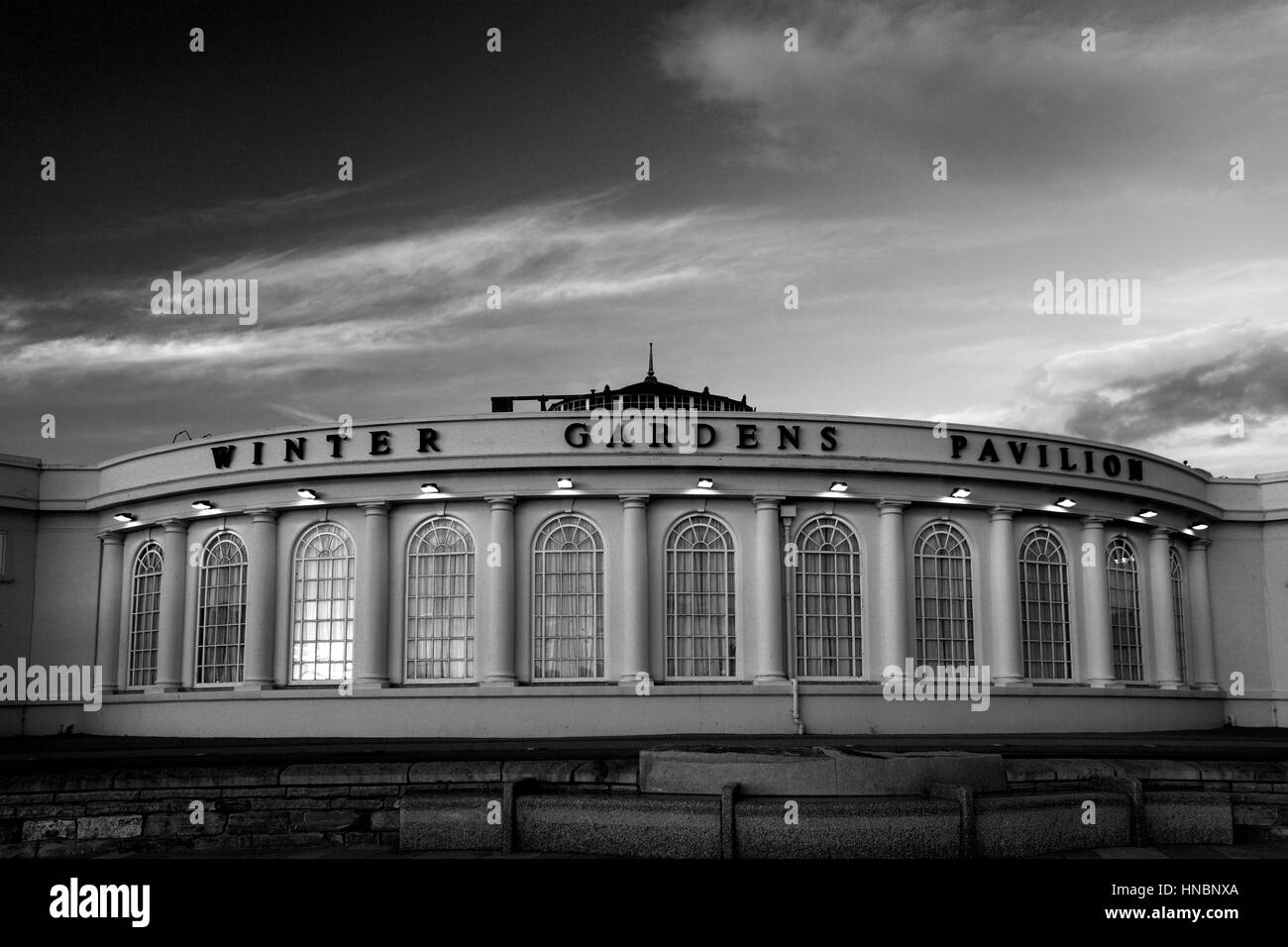 The Winter Gardens building, Weston Super Mare, Bristol Channel, Somerset County, England, UK - Stock Image