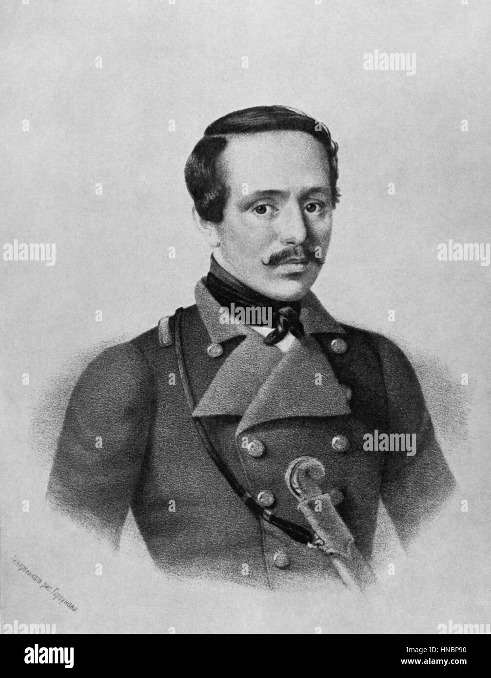 MIKHAIL LERMONTOV  01 January 1835 - Stock Image