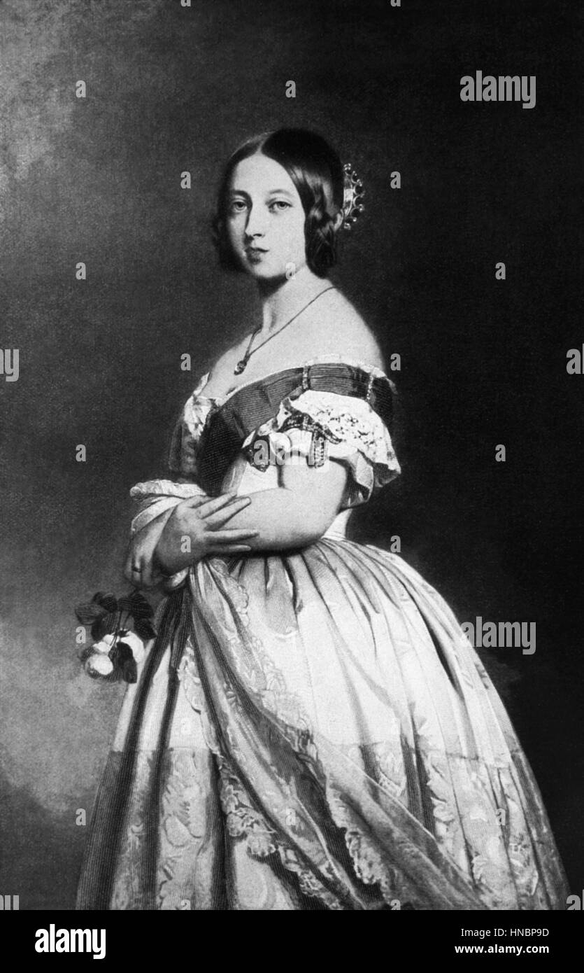 QUEEN VICTORIA  01 January 1860 - Stock Image